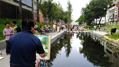 40多位畫家齊寫生 以畫筆記錄綠川之美