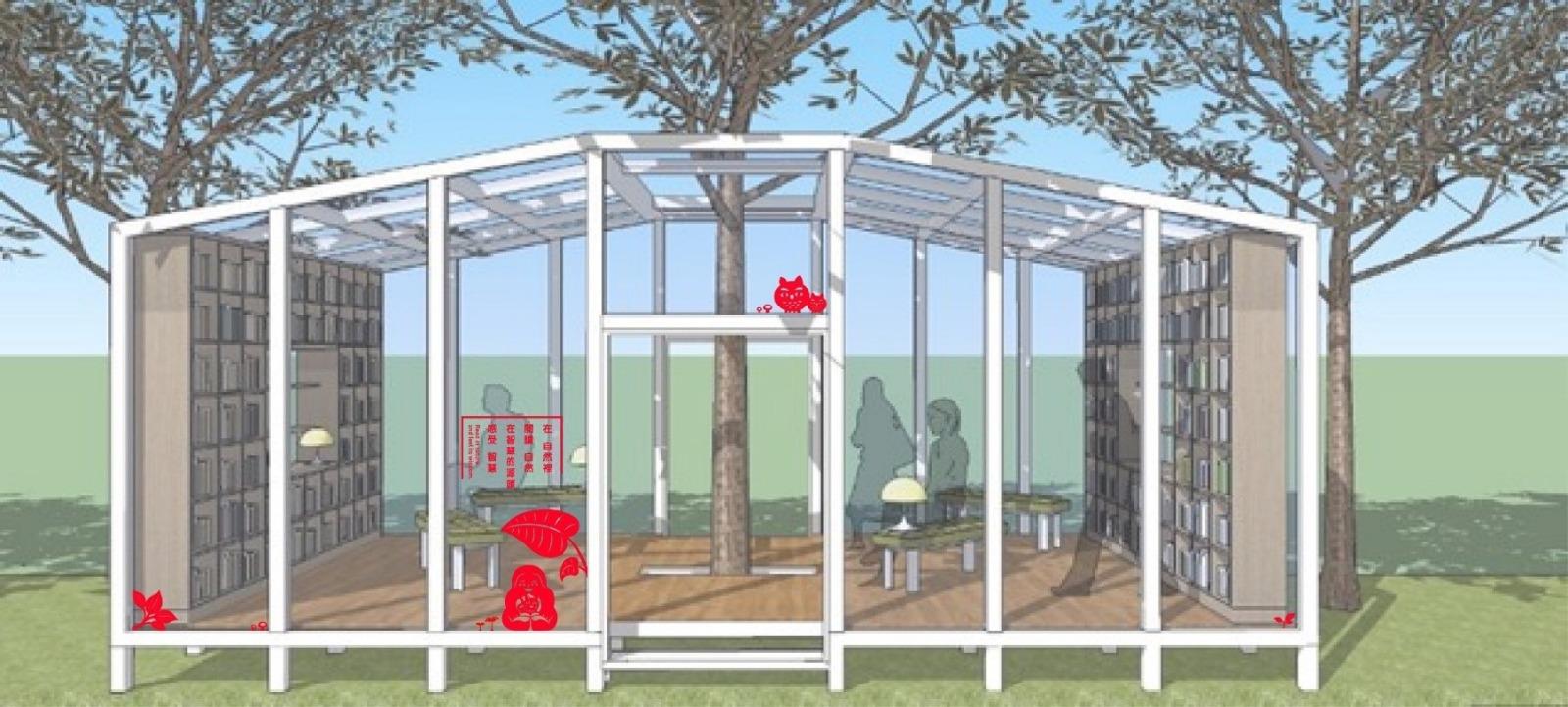 森林中徜徉書海 花博后里園區打造「森林圖書館」