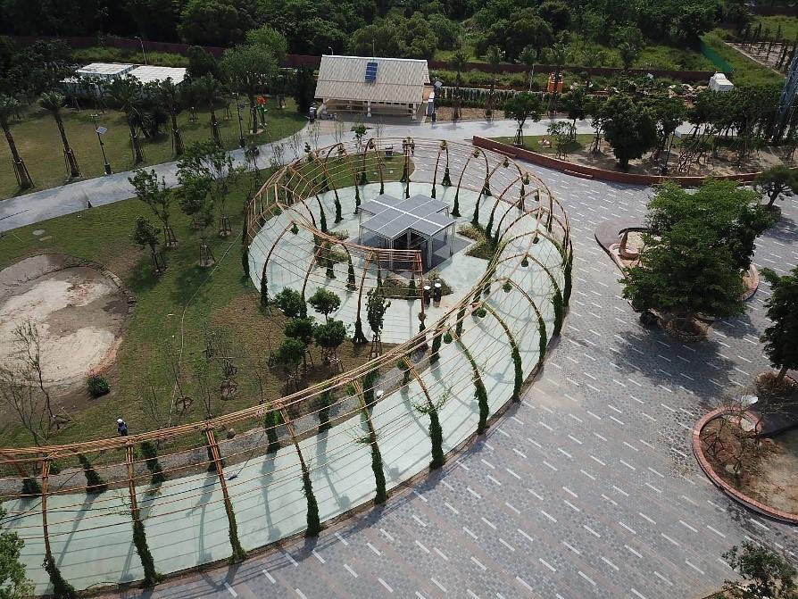 花博外埔園區「攀果花廊」 竹造建築展減碳精神
